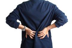 Dolore alla schiena Fotografie Stock Libere da Diritti