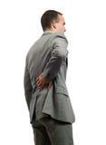 Dolore alla schiena Immagini Stock