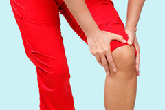 Dolore del ginocchio Fotografia Stock Libera da Diritti