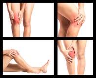 Dolore del ginocchio della raccolta immagine stock