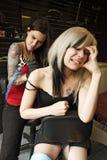 Dolore del tatuaggio della spalla fotografie stock