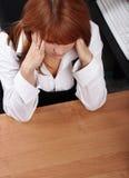 Dolore della donna di affari Fotografia Stock
