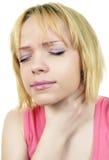 Dolore della gola Immagini Stock