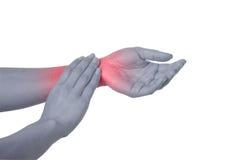 Dolore della mano Immagine Stock
