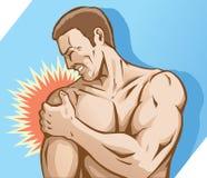Dolore della spalla illustrazione di stock