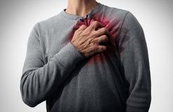 Dolore di attacco di cuore fotografia stock