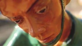Dolore di morte del campo di concentramento che soffre Phu Quoc video d archivio