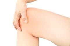 Dolore di ossa del ginocchio fotografia stock