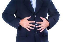 Dolore di stomaco Immagine Stock