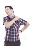 Dolore e dolore del collo Fotografia Stock
