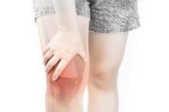 Dolore muscolare del ginocchio immagine stock
