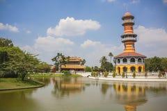 Dolore Royal Palace - Ayutthaya Tailandia di colpo del palazzo di estate Immagini Stock Libere da Diritti