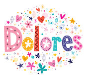 Dolores girls name Stock Photos