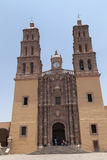 Dolores Hidalgo church in Mexico. Parroquia de Nuestra Señora de los Dolores in Dolores Hidalgo, Cradle of National Independence. The city was a small town Stock Photo