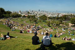 Dolores park in a sunny day royalty free stock photography