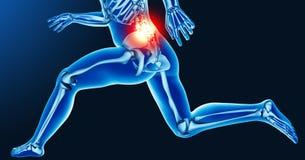 Dolori articolari della gamba Fotografia Stock Libera da Diritti