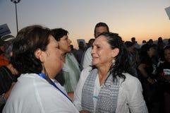 Dolori di Ofelia Medina dell'attrice durante la protesta Fotografia Stock Libera da Diritti