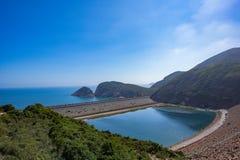 Dolosse, alto bacino idrico dell'isola, Sai Kung, Hong Kong fotografie stock libere da diritti