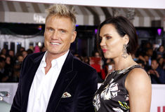 Dolph Lundgren e Jenny Sandersson Foto de Stock Royalty Free