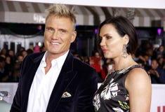 Dolph Lundgren et Jenny Sandersson Photo libre de droits