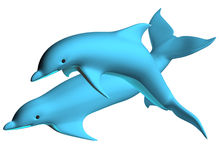 Dolphin 02. Dolphins dance on the air to be illustrated Royalty Free Stock Images