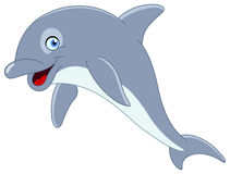 Dolphin. Illustration of a cute dolphin jumping Royalty Free Stock Photo