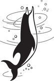 Dolphin. Vector illustration of the jumping dolphin Royalty Free Stock Photography