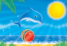 Dolphin. Illustration Royalty Free Stock Images