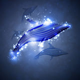 Dolphin. Neon dolphin, abstract futuristic strip, stylish illustration Royalty Free Stock Images