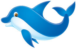 Dolphin. Isolated clip-art / funny illustration for your design Royalty Free Stock Images