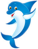 Dolphin. Isolated clip-art / funny illustration for your design Royalty Free Stock Photo