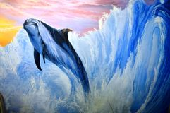 Dolphin Abstract Background Royalty Free Stock Photo
