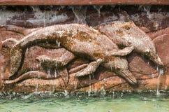 Dolphin bas-relief Royalty Free Stock Photos