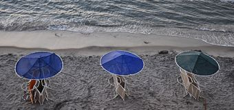 Evening at the beach stock photography