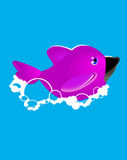 Dolphin and bubbles. royalty free illustration