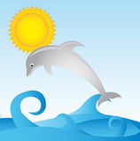 Dolphin cartoon Royalty Free Stock Images