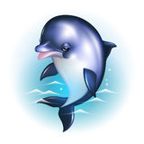 Dolphin cartoon against the background of the Royalty Free Stock Photo