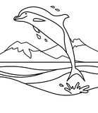 Dolphin coloring page Royalty Free Stock Images