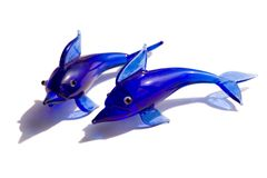 Dolphin Figures. Two Dolphin Figures Royalty Free Stock Photo