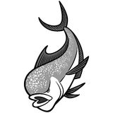 Dolphin Fish Mascot illustration Stock Photography
