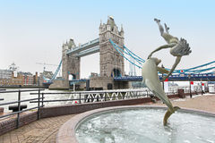 Dolphin fountain Royalty Free Stock Photo