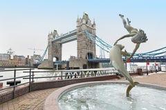 Dolphin fountain Royalty Free Stock Photo
