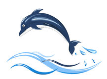 Dolphin icon Stock Photo