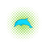 Dolphin icon, comics style Royalty Free Stock Photography