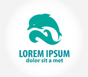 Dolphin icon design element Royalty Free Stock Images