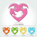 Bird icon design element Royalty Free Stock Images