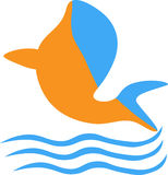 Dolphin Icon Design. For website, company, shirt, animalcare and animal company Stock Image