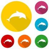Dolphin icon Royalty Free Stock Photos
