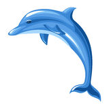 Dolphin.. Illustration of blue dolphin isolated on a white background Stock Photography