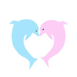 Dolphins kiss Stock Photo